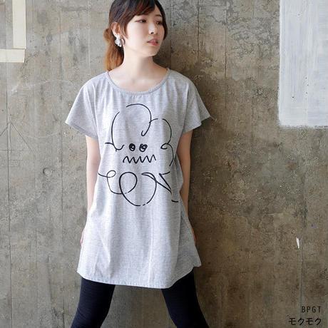 sp061opt - モクモク Tシャツワンピース -G- 落書き くもり空 イラスト かわいい ガールズ レディース 半袖