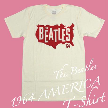 beatles-usa64 - 1964 AMERICA Tシャツ - The Beatles ビートルズ -G-( USAコンサート 50周年記念 Rock ロックTシャツ バンドTシャツ )
