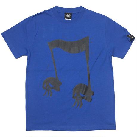 sp039tee-rb - スカルオンプ2 Tシャツ (ロイヤルブルー)-G- ROCK ロックTee ドクロ 髑髏 青色 半袖
