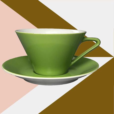 Lilien Austria  ティー・コーヒー兼用カップ&ソーサ―【Olive】