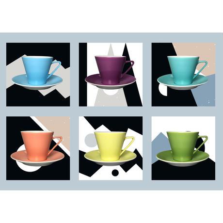 Lilien Austria  コーヒーカップ&ソーサ―【Violett】