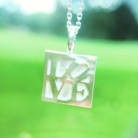 "IN-PUT-OUT / ""The other side of love"" Reversible Necklace Silver 92"