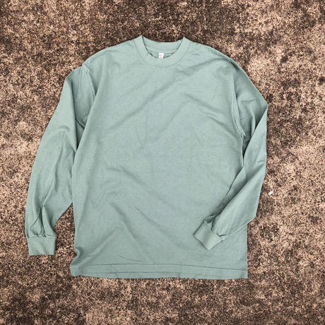 Los Angels Apparel / 6.5oz Garment Dyed Crew Neck L/S Tee