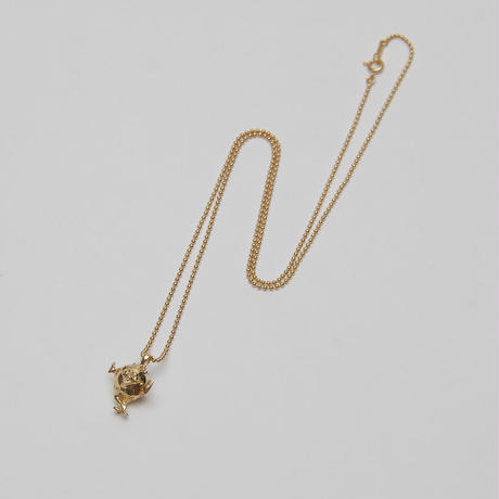 IN-PUT-OUT / Peace monster Necklace K18GP/ Silver925