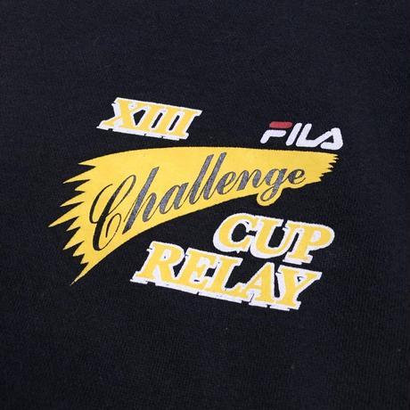 FILA / 90's Vintage Challenger Cup Relay Crewneck Sweatshirt