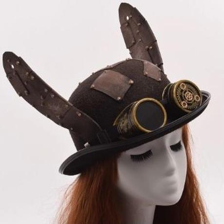 コスプレ イベントに ウサミミ 帽子 かわいい スチームパンク 送料無料