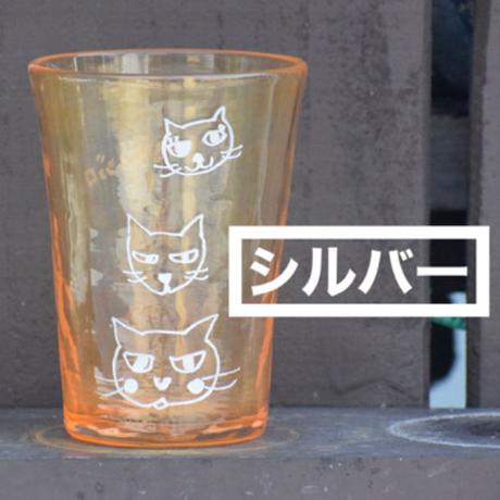 らくがきガラス(ロックグラス青系)