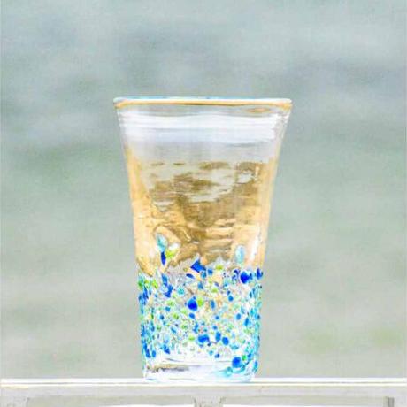 200ccつぶつぶビアグラス(青系)