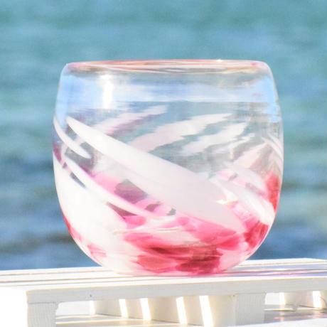 大波丸グラス(金赤/白)