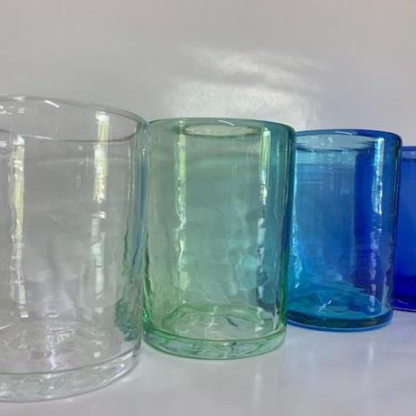 らくがきガラス(ファッショングラス青系)