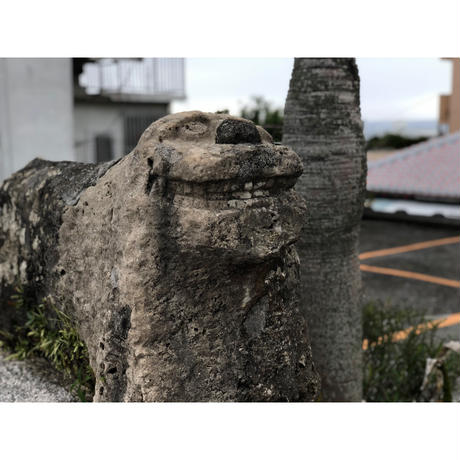 チッピルーシーサー【口開】勝連トラバーチン