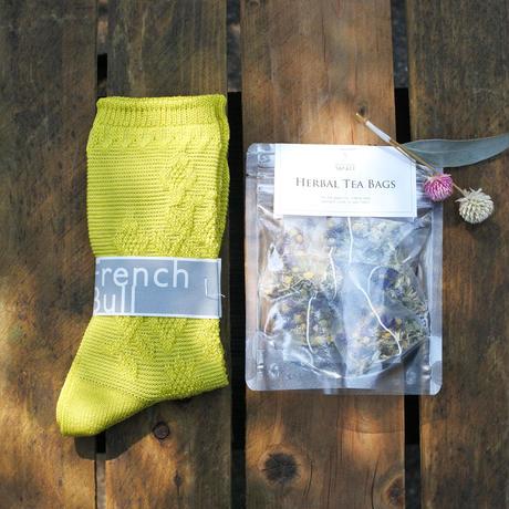 itsumo & sorali : 母の日ギフト socks & herbtea セット B(イエロー)
