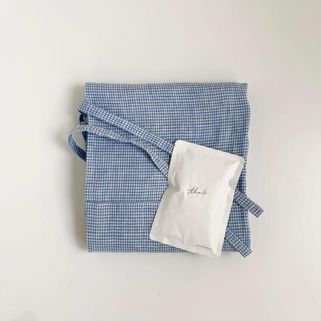 """bocagrande:mother's day set - Apron and coffee """"blue""""""""thank"""""""