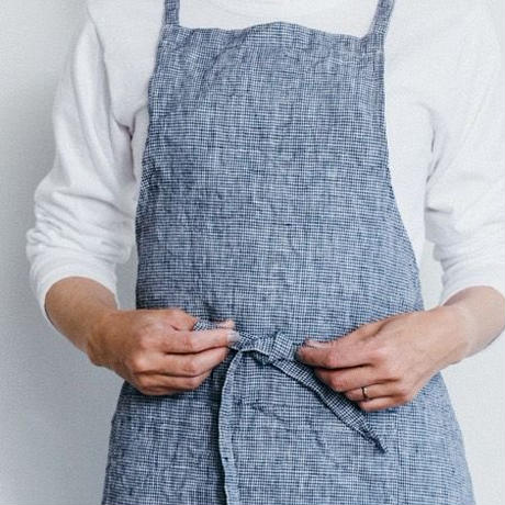 """bocagrande : mother's day set - Apron and coffee """"navy"""""""