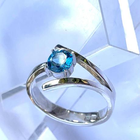 Dリング(縁結び)青 ブルートパーズ