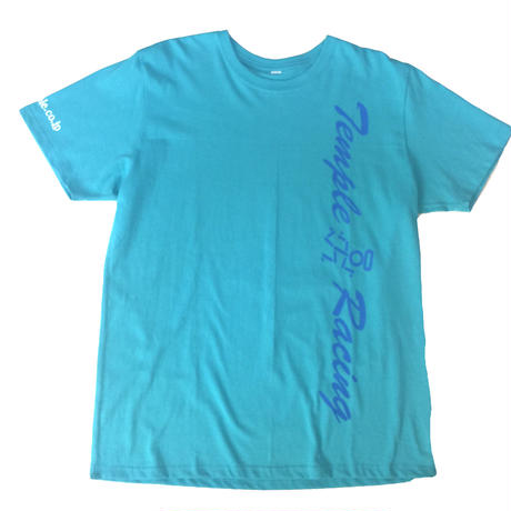 temple 縦ロゴ mintTシャツ