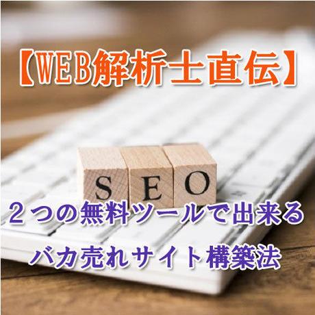 【Web解析士直伝】2つの無料ツールで出来るバカ売れサイト構築法