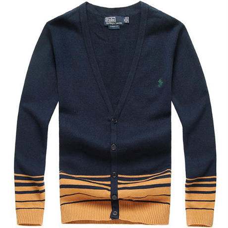 「ポロ」Vネックニットセーター 洗練されたデザイン