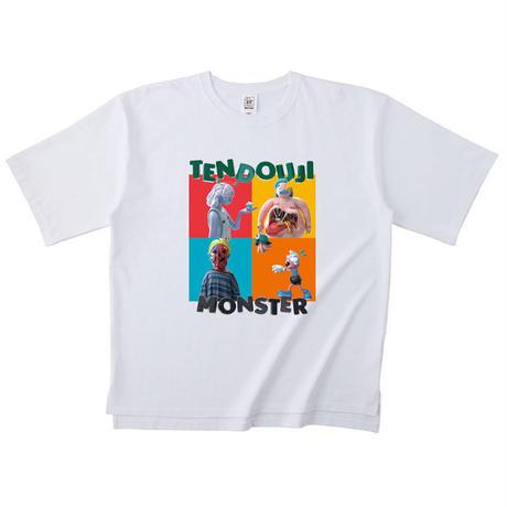 TENDOUJI MONSTER BIGシルエットT [ホワイト]