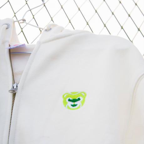 テニスベアオリジナル ジップパーカー(オフホワイト)