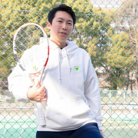 テニスベアオリジナル パーカー(オフホワイト)