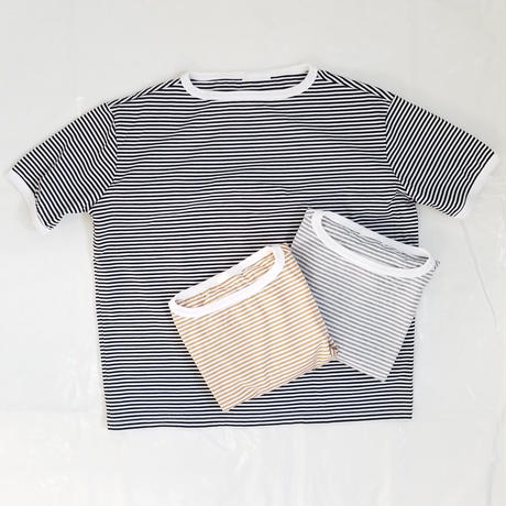 Commencement[コモンセメント] / ボーダー ボートネック S/S tee