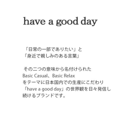 have a goo d day[ハブアグッドデイ]/trousers relax pants