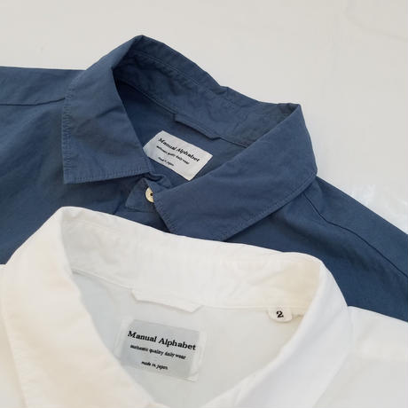 MANUAL  ALPHABET[マニュアルアルファベット]/ LOOSE FIT REGULAR COLLAR S/S SHT