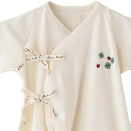 SENSE OF WONDER センスオブワンダー オーガニックコットン 日本製 クローバー 刺繍コンビ肌着
