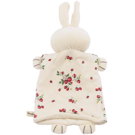 SENSE OF WONDER センスオブワンダー オーガニックコットン 野イチゴウサギパペット(オーガニックのハンドパペット)日本製 こども用0才から