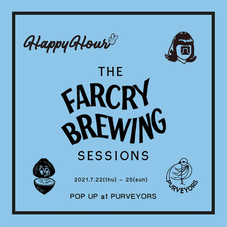 TACOMA FUJI RECORDS × FARCRY BREWING, DRINKING TEAM Tee