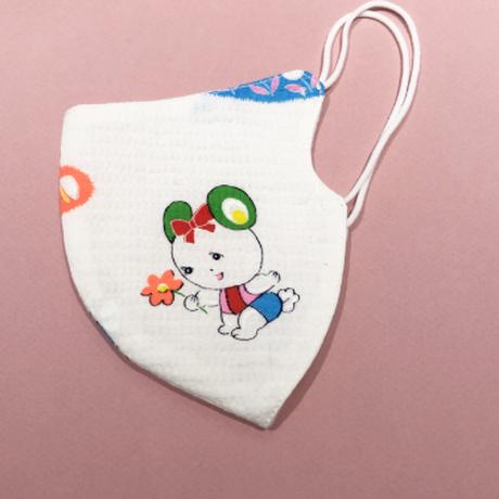 浴衣マスク(子鹿と赤ちゃん) Japanese yukata  mask- fawn and baby