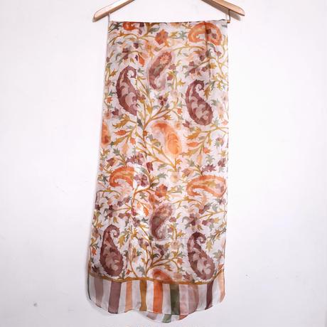 ストール100%シルク Silk stole - foulard en soie / Orange
