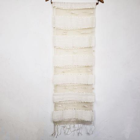 シルクコットン ストール・silk cotton stole - foulard / blanc