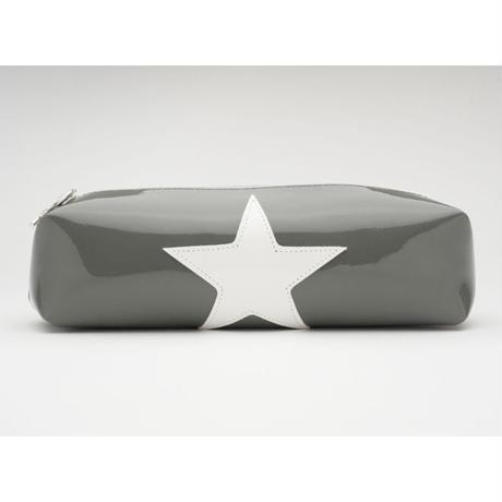 ペンケース ETOILE[星] x BLANC[ホワイト]  x GRIS[グレー]
