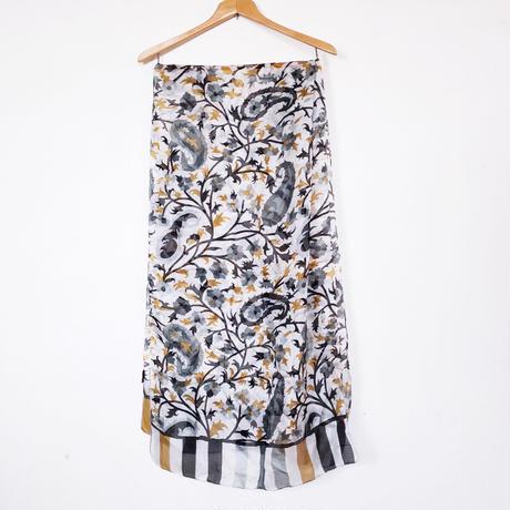ストール100%シルク Silk stole - foulard en soie /  gris beige
