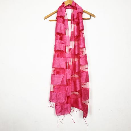 シルクコットン ストール・silk cotton stole - foulard / rouge