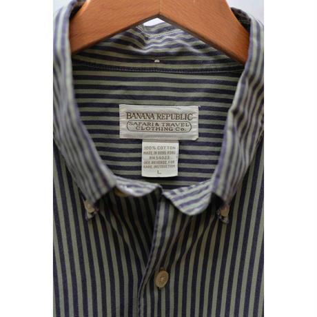 BANANA REPUBLIC 80'S B.D. stripes shirt
