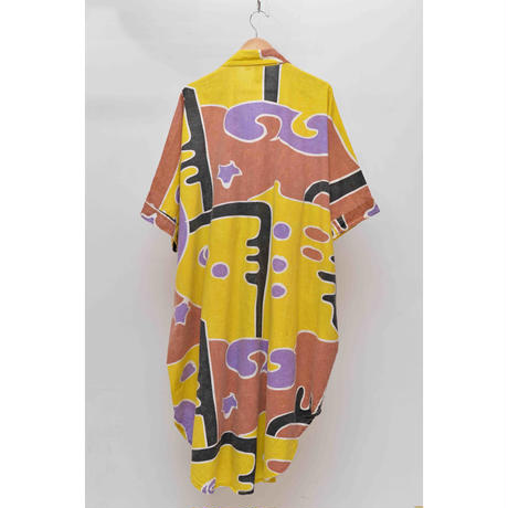 AFRICAN FABRIC S/S One Piece