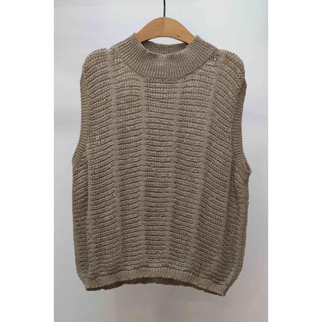 ELLEMENT 90'S Polyester×Cotton sleeve less knit