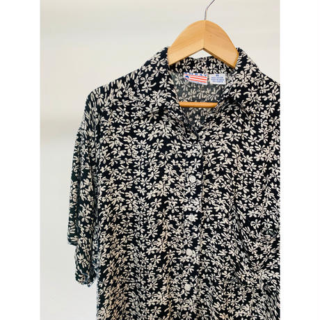 Rayon Flower Patterned Shirt S/S