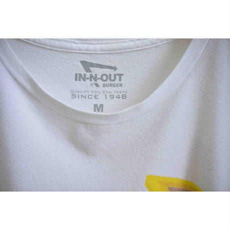 "USED ""IN-N-OUT BURGER"" プリントTシャツ"