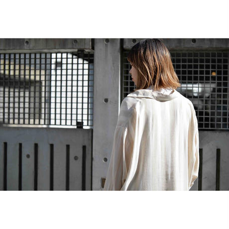 Compagnis Internationals EXPRESS レーヨン×リネンストライプシャツ