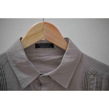 COOFANDY コットンリネンキューバシャツ