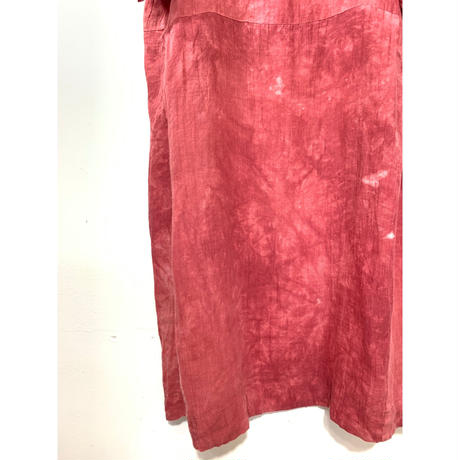 Uneven Dyeing Linen One Piece