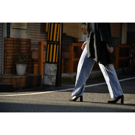 Style & me リネン&ストライプイージーパンツ