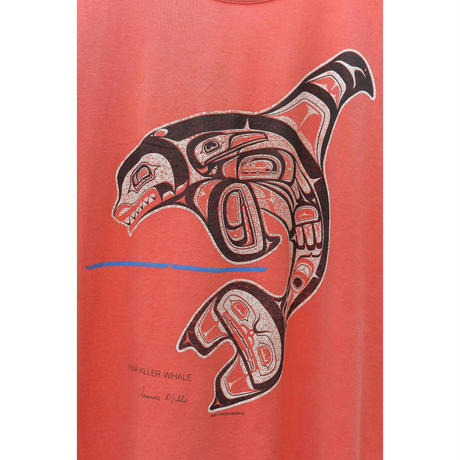 80'S First Nations Design Print T-shirt