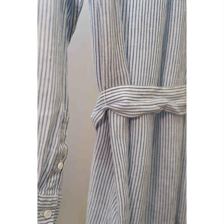 Stripes linen long shirt