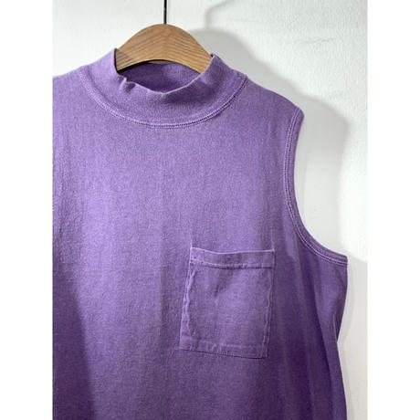 Cotton Mock Neck Sleeveless Top