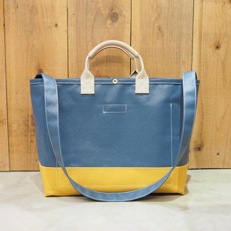 Two Fabrics Bag(ネイビー×マスタード×アイボリー)
